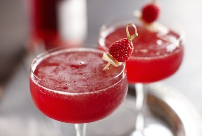 Colourful Champagne Cocktails