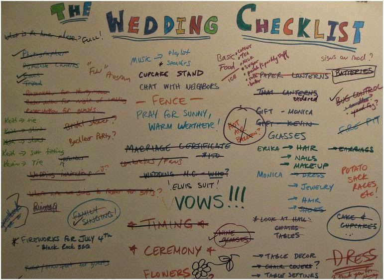 A wedding planning checklist