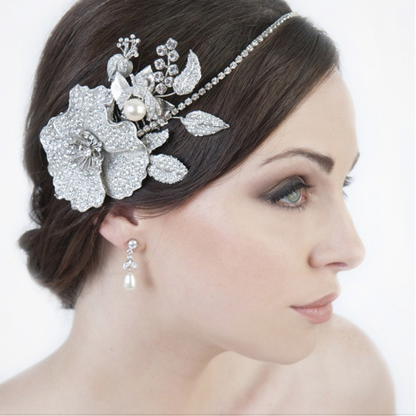 Winter Garden headpiece by Stephanie Browne